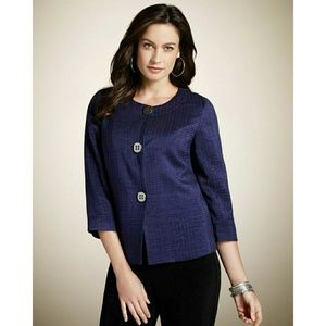Chico's Mandy Jacket Three Button Purple